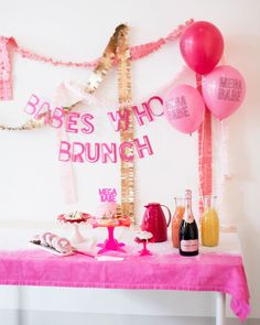 45 Pink Bridal Shower Ideas and Decorations We Love #BridalShower #BridalShowerIdeas #PinkBridalShower #BestBridalShowers | Martha Stewart Weddings - Pink Bridal Shower Ideas and Decorations We Love