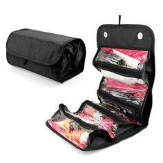 4 Zippered Compartment Makeup Toiletry Cosmetics Medicine Shaving Accessory Kit Travle Bag Organizer