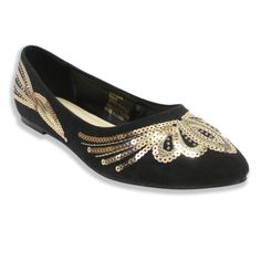 Spice up your look with these beautiful Olivia Miller pointy toe ballet flats. Featuring an all-over sequin pattern over a microsuede construction, these darling flats are sure to stand out with each step you take.