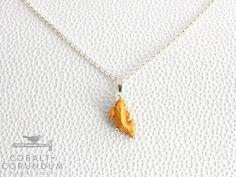 Yellow Gold Koi carp nishikigoi on 925 sterling door cobaltcorundum