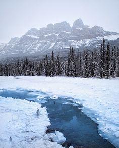 bow river. castle mountain. banff. alberta. by Tanner Wendell Stewart / 500px
