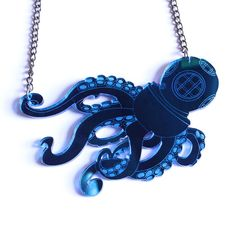 Octodiver Necklace by Swank on Etsy
