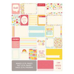 Project Life Themed Cards 60 Pack - Girl   Hobbycraft #projectlife #scrapbooking #makingmemories #hobbycraft #papercraft