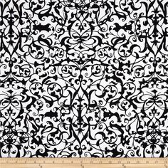 Michael Miller Midnight Trellis Gate White from @fabricdotcom  From Michael Miller, this cotton print is perfect for quilting, apparel and home decor accents.  Colors include black and white.