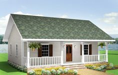 Plan 2513DH: Rustic Cottage in Multiple Versions