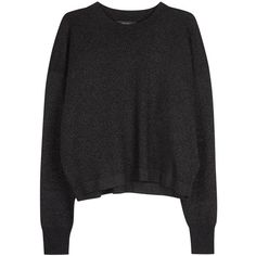 Womens Jumpers Isabel Marant Bangalore Black Jumper ($510) ❤ liked on Polyvore featuring tops, sweaters, isabel marant sweaters, jumpers sweaters, isabel marant, black metallic sweater and rayon tops