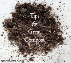 Tips for Great Compost