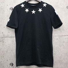 GIVENCHY - STAR 74 MENS BLACK T-SHIRT