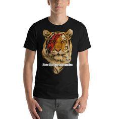 Bowie Tiger Short-Sleeve Unisex T-Shirt Designer Wear, Bowie, Fabric Weights, Unisex, Hoodies, Sleeve, Cotton, Mens Tops, T Shirt