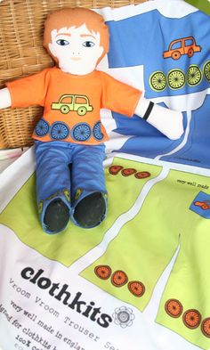 Clothkits. Cool boy doll:)