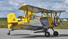 Grumman G-164B Ag Cat. Introduced in 1957. Ser#812B/Reg #CN-ASB.( Single engine biplane agricultural aircraft- crop duster) It had a pressurized cockpit to keep pesticides out and air conditioning.