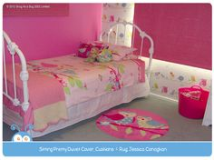 Sitting Pretty Duvet Cover, Cushions and Rug by Jessica Conaghan.  Vote for Melanie if you think this is the best kids room!