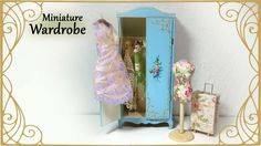 Miniature Vintage Wardrobe - Dollhouse Tutorial - Published on Jun 21, 2016 Hi guys! Today we're making this vintage inspired miniature wardrobe :) I made mine from thin wood, but you can also make it out of cardboard to make it easier. If you don't want a vintage look, just change up the paint for a different look ^^ I also made some miniature hangers with polymer clay, and some very simply dresses to hang on them. If you wanna see how to make proper doll clothes, I have tutorials for…