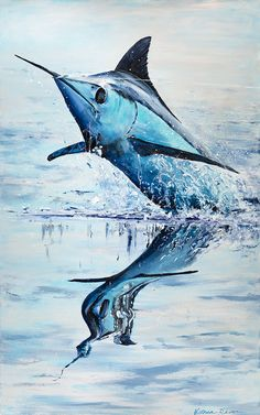 Salt Water Fish, Salt And Water, Sport Fishing, Fly Fishing, Amazing Photos, Cool Photos, Cool Fish, Deep Water, Mirror Image