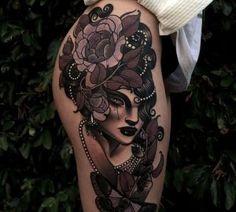 Emily Rose Murray always loved her tattoos Tattoos For Women On Thigh, Hip Thigh Tattoos, Tattoos For Guys Badass, Best Leg Tattoos, Body Art Tattoos, Cool Tattoos, Men Tattoos, Finger Tattoos, Sleeve Tattoos