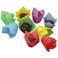 Tulip Cup Colored Variety Pack | Baking Cups - Kitchen Krafts