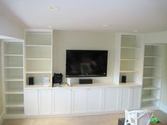Built In Media & Entertainment Unit this looks easy to make, shelves and cabinets