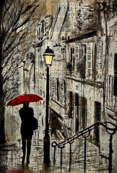 "Saatchi Art Artist Loui Jover; Drawing, ""the walk home"" #art"