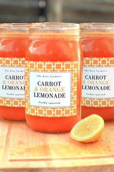 Carrot & Orange Lemonade   Evermine Occasions   www.evermine.com