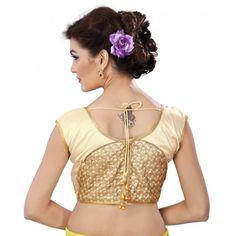 Designer Readymade Golden  Blouse - TAMANNA02