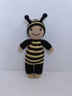 Bee Baby Doll Animal Baby Doll Baby Bee Doll Crochet Animal