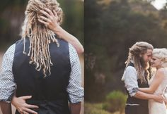 Super handsome groom with dreadlocks. Photo by Intuitive Images Photography