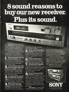 1976 Sony STR-6800SD Stereo Receiver Vintage Electronics Print Advertisement