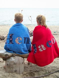 Personalized towels are the perfect accessory for pool and beach days.