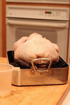 preparing to slow roast a turkey #thanksgiving