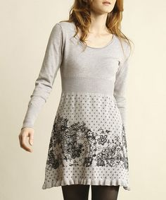 Take a look at this Gray Ruffle Sweater Dress by Young Threads on #zulily today! Misses Clothing, Promotion Dresses, Wardrobe Makeover, Grey Sweater Dress, Frocks, Fashion Outfits, Fashion Clothes, What To Wear, Dress Up