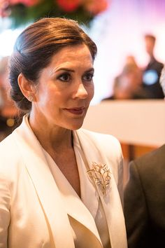 Crown Princess Mary of Denmark visiting the Designlounge on May 29, 2017 in Stockholm, Sweden. Crown Princess Victoria of Sweden (L),...