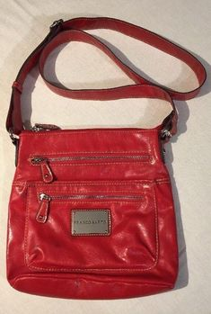 88d671e371df Franco Sarto Crossbody Purse Red Adjustable Strap