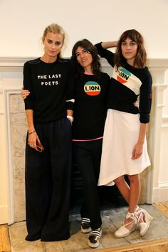 3 Fantastic women <3 <3 <3 Laura Bailey, Bella Freud, Alexa Chung.