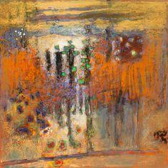 "44-15   pastel on paper   14 x 14""   2015"
