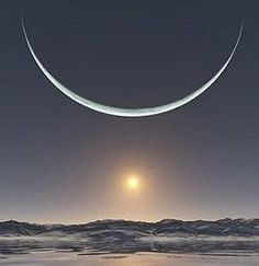 Sunrise at the North Pole when the Sun and the moon are at their closest point - stunning!!