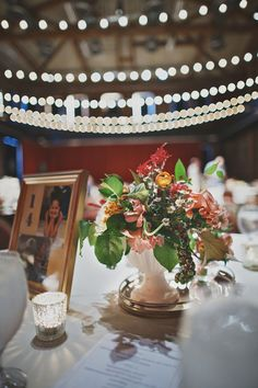 vintage-inspired centerpieces // photo by Hot Metal Studio http://ruffledblog.com/whimsical-pittsburgh-opera-wedding #centerpieces #weddingideas