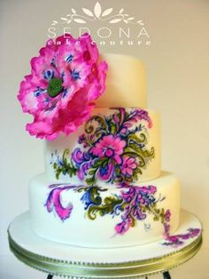 Such delightfully bright colors on this cake!