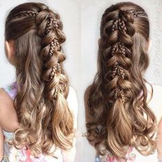Fancy Little Girl Hairstyle with Braids #girlhairstylesforschool