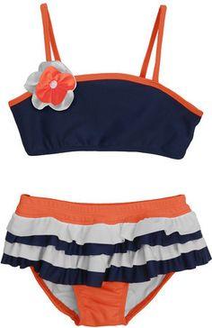 a0f285e78f7fa Isobella and Chloe Girls Swim Swimsuit Edition, Striped Bikini, Two Piece  Bikini, Childrens