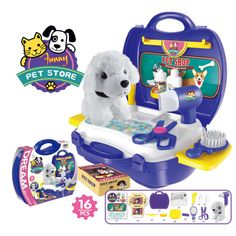 Children Simulation Kitchen Cook Tableware Dresser Cashier Tool Suitcase Doctor House Toys