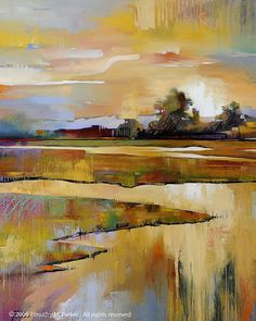 Abstract Landscape Art  Contemporary Landscape by AbstractBrush