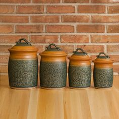 Four Piece Canister Set in Tan | Ash Glaze – Royce Yoder