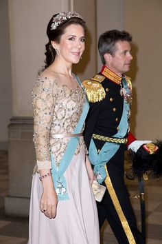 mother of four, crown princess Mary of Denmark with her handsome husband