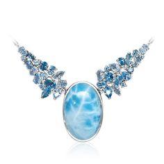 Grace Light Blue Topaz Necklace - Ngrac01-00