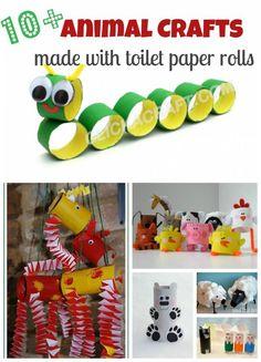 craft, recycle, toilet paper rolls, elementary school, primary school, animals, knutselen, kinderen, kleuters, basisschool, wc-rol, toiletpapier rol, tutorial