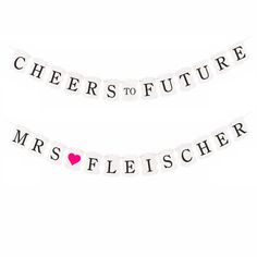 Custom Hen Party/ Bachelorette Bunting Decorations - FUTURE MRS by FAVOURGRAM on Etsy Hen Party Bags, Buntings, Team Bride, First Contact, The Balm, Card Stock, Notes, Messages, Decorations