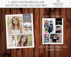 8x10 Photo Collage Template 8x10 storyboard collage