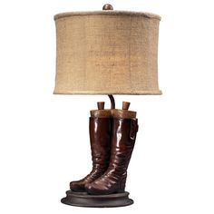 I pinned this Riding Boots Table Lamp from the Maison du Moulin event at Joss and Main!
