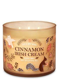 Cinnamon Irish Cream Candle by Bath & Body Works - Fall Candles - Ideas of Fall Candles Products Body Works Posh secret Parfum Bath Candles, Mini Candles, 3 Wick Candles, Candle Set, Scented Candles, Cinnamon Candles, Cinnamon Swirls, Perfumed Candles, Homemade Candles