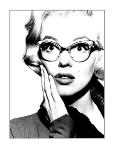 Marilyn Monroe With Glasses Tattoo